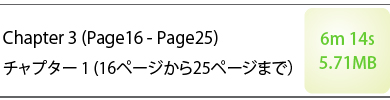 Chapte3 (Page16 - Page25) チャプター3(16ページから25ページまで) 6m14s 5.71MB